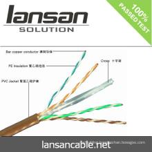 cat6 utp network cable 100% Fluke pass UL ANATEL Approval