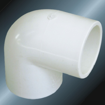 Din Pn10 Water Supply Upvc Elbow 90 ° White Color