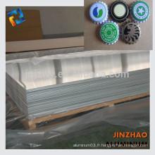 Prix raisonnable 8011 h14 plaque en aluminium pour pp caps