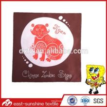 Изготовленный на заказ печать тигр логотип микроволокно ткань для чистки, bluk изготовленный на заказ логос напечатанная ткань чистки