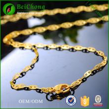 Importación de joyería collar de Simple cadena de oro amarillo