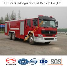 16ton HOWO camión de bomberos de agua baratos Euro4