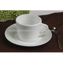 Heiße Verkauf Porzellanporzellangroßhandelsteebecher und -untertassen