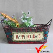 Бамбуковая цветочная корзина