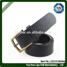Fashion Men's Casual Black Wide Real Leather Metal Buckle Waistband/cintos de couro cinto de couro para homens