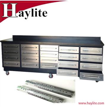 Bancada de aço inoxidável de venda quente de 10ft com os slideres resistentes para o uso da garagem