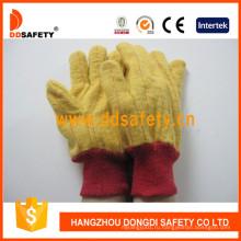 Золотая желтая перчатка для перчаток вязаные перчатки безопасности для инвалидов Dcd103