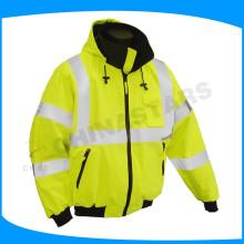 Ansi classe 2 ou 3 veste de sécurité réfléchissante avec épaulettes