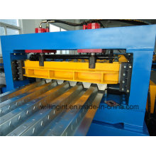 Máquina formadora de rollos en frío de metal de cubierta de piso de alta calidad