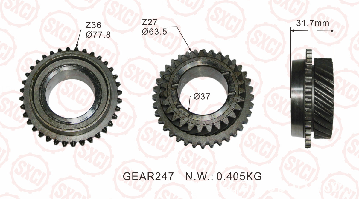 Transmission Gear Part Connecting Tooth