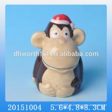 2016 neue Geschirr Keramik niedlichen Zahnstocher Halter mit Affe Form