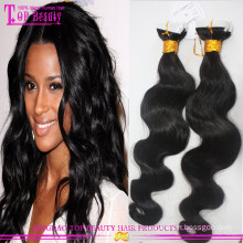 """Top quality virgin Russian wavy hair tape extensions 10""""-30"""" 100% unprocessed cheap wholesale tape hair extensions"""