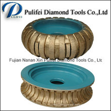 Profile Grinding Wheel Sintered Granite Diamond Router Bits Rim Segment