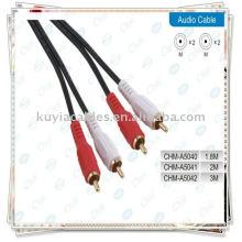 2 RCA для 2 RCA-кабелей для Male Audio 1.5M