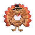 Medium Thanksgiving Turkey Iron di Embroidered Patch