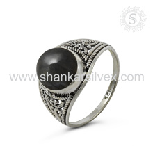 Scenic Labradorit Edelstein Silber Ring Großhandel 925 Sterling Silber Schmuck Indische handgefertigte Online Silber Schmuck