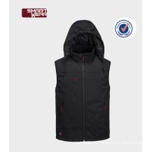 Latest customized winter windproof vest men softshell vest