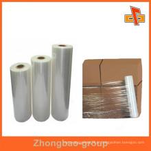 Fabricantes de plástico promocional esticar filme envolvendo plástico para caixa de armazenamento / embalagens paletes caso da China