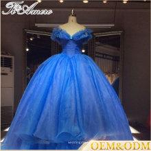 Cuento de hadas princesa vestido estilo 2017 precio de fábrica personalizado vestido de bola vestido de novia