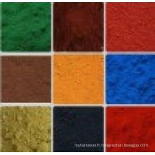 Rouge Jaune Couleur verte Oxyde de fer