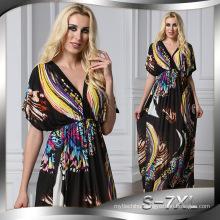 Premium quality polyester women kimono muslim dress abaya