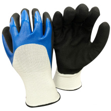 NMSAFETY anti light oil use sandy nitrile on palm work gloves