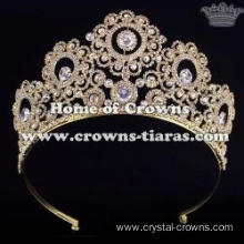 Alloy Crystal Wedding Crowns With Round Diamond