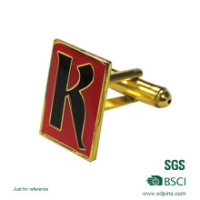 Customized Letter Logo Printed Cuff Link with Epoxy
