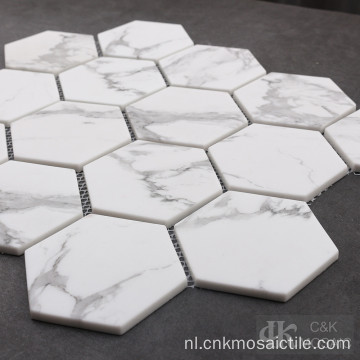 3 inch zeshoek backsplash glasmozaïek