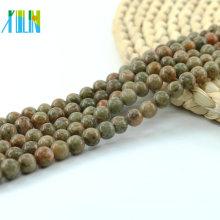 L-0134 Wholesale China Unakite loose unakite beads,green gemstone beads