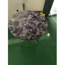 Amethyst side table top