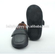 Vente en gros nouveau design chaussures noires chaussures bébé berceau bébé