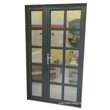 Aluminium frame double glazed front door design in kerala