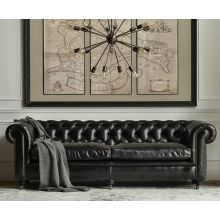 Reliable and Comfortable Chesterfield Retro Used Leather Sofa