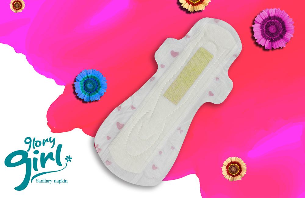 Different types sanitary pads with negative ions samples