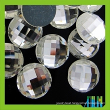 Wholesale 25mm round flat back glass stone for jewel
