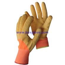 Цветные латексные рабочие перчатки