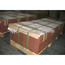 Folha de cobre C2801 / placa