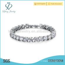 Bracelet en argent platine en argent, bracelets pour femme argent