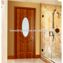 Bathroom Melamine Molded Door with Frosted Glass Insert