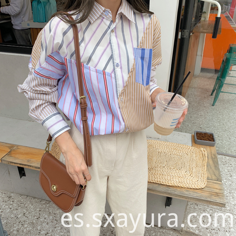 female Simple striped Casual Shirt