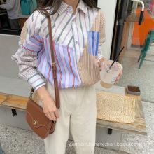 Autumn youth fashion casual temperament striped blouse