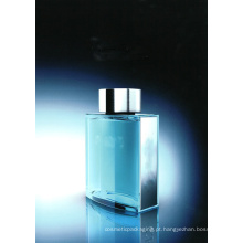 Garrafa clássica em perfume de homem de cor azul