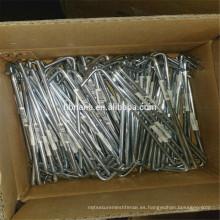 El fabricante de China para la tienda de campaña de acero galvanizado clava la clavija pesada de la tienda de acero