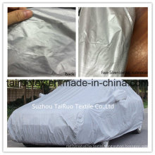 Outdoor Car Cover of Silver Coated Fabric with High Waterproof