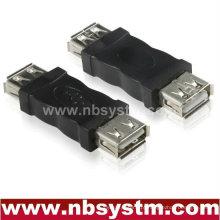 USB Uma fêmea para um adaptador fêmea