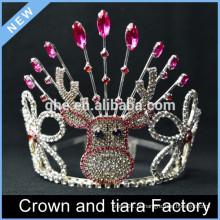 Coroa da tiara do feliz aniversario, coroas da nova tiara do ano novo, decorações da coroa do rei