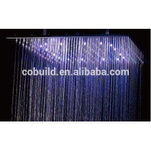 New design bathroom shower set with 16 inches led lighted shower head