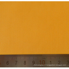 Tissus en coton Polyester jaune Twill T/C