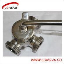 3-ходовой штекерный клапан с резьбой из нержавеющей стали